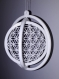Gyroscope fleur de vie - diamètre 95mm