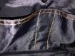 Sac en toile de jean avec décorations surpiquées, doublure polyester, 4 poches intérieures