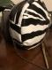 Sac rond - cuir végan noir et blanc - imprimé animal zèbre