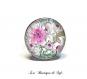 Boucles d'oreilles dormeuses avec cabochon en verre 18 mm * fleurs * (300517)