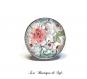 Bague ajustable avec cabochon en verre 18 mm * fleurs * (300517)