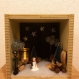 Cadre en bois décoratif thème noël