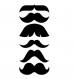 6 decoupes moustaches