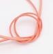 1 métre de suédine rose à paillettes