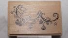 Tampon bois aladine boules de noël