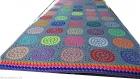 Couverture grand lit plaid crochet vintage rétro granny hippie multicolore