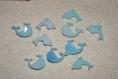 Lot de cabochons dauphin baleine  creation maison resine