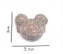 Barrette anti glisse  pour bébé ou petite fille mini / mickey grise