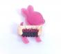Barrette anti glisse pour bébé ou petite fille  faon / bambi rose / fuchsia