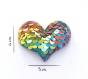 Barrette anti glisse pour bébé ou petite fille  cœur perles sequins multicolore