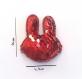 Barrette anti glisse  pour bébé ou petite fille lapin perles sequins rouges