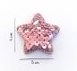 Barrette anti glisse  pour bébé ou petite fille étoile perles sequins roses
