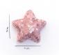Barrette anti glisse pour bébé ou petite fille  étoile perles roses