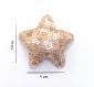 Barrette anti glisse pour bébé ou petite fille  étoile perles ocres