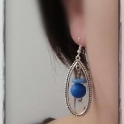 Boucle d'oreille fantaisie réf : b115