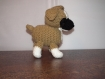 Amigurimi norbert le petit chien, doudou...décoration ou jouet fait main au crochet.