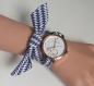 Montre bracelet en tissu interchangeable femme kcreabijoux