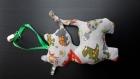 Doudou chat avec attaché pour tétine