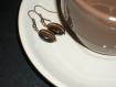 Boucles d'oreilles ovales quartz fumé
