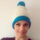 Bonnet chaud grosse laine bi-colore en laine et alpaga