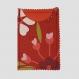 Porte carte corail (carte bleue, carte vitale, cartes magasins...) 100% coton