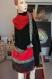 Sac cabas artisan pièce unique sac à main cuir velours marque fait main cadeau pratique grand sac accessoire mode noel