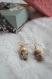 Boucles d'oreilles pendantes accessoire mode graines naturelles bois cadeau noel