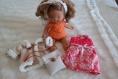 Noel collection fille poupée corolle ancienne vetements pièces uniques fait main jouet cadeau