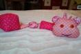 Chenille doudou bébé premier jouet coussin forme ludique