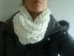 Snood double tour en laine fait main