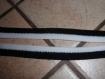 Galon élastique coloris noir et blanc