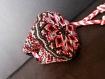 Petite bourse avec mandala (rosace) entièrement tissée en macramé avec du fil en coton