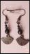 Boucles d'oreilles percées - oiseaux gun métal - noir- style girly - perles magiques - cristal swarovski - verre de bohème - preciosa ornela