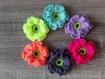 Lot de  fleurs  au  crochet