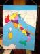 Carte geographique en tissu