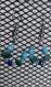 Boucles d'oreilles bleu, petites, bon marché