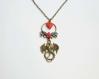 Saint valentin dragon coeur fleur fantastique