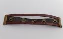 Bracelet cuir marron steampunk 3 bandes de cuir - femme et homme