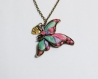 Pendentif papillon saint valentin made with love