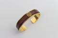 Bracelet cuir véritable laiton steampunk