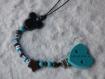 Attache tétine  avec pince en forme de coeur thème #mickey