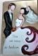 Carte mariage en quilling et peinture
