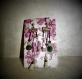 Boucles d'oreilles hypoallergenique en pierre naturelle quartz rose et amethyste et aventurine