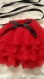 Jabot en dentelles rouge