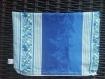 Bag / sac à main bleu /  pochette bleu et blanc fleuri