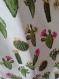 Tote bag - cabas - sac de courses en coton motif cactus