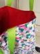 Tote bag en coton multicolore