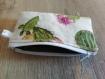 Porte monnaie - pochette cactus