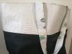 Grand sac simili cuir et coton