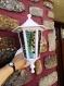 Eclairage lampe lanterne exterieure  verre fusing glass